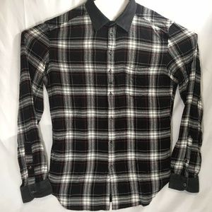 Diesel Plaid flannel long sleeve button up large